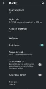Dark theme in mobiles